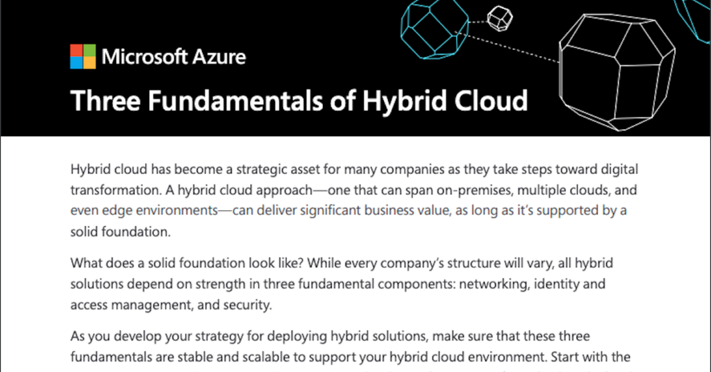 3 fundamentals for a successful hybrid cloud